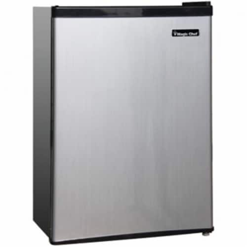 Magic Chef MCPMCBR350S2 3.5 Cubic-ft. Refrigerator - Stainless look Perspective: front