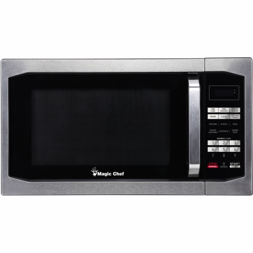 MAGIC CHEF Stainless Steel Countertop Microwave Oven - Silver Perspective: front