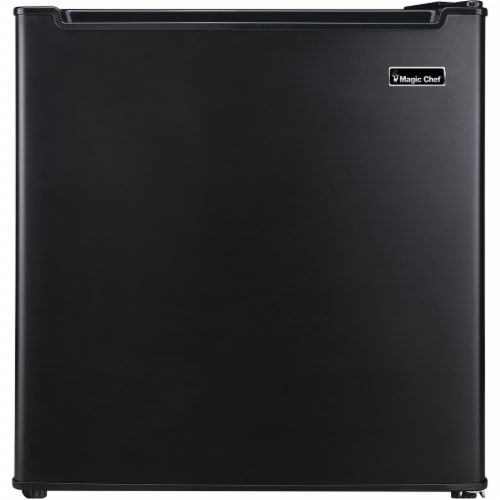MAGIC CHEF Mini Refrigerator with Chiller Compartment - Black Perspective: front