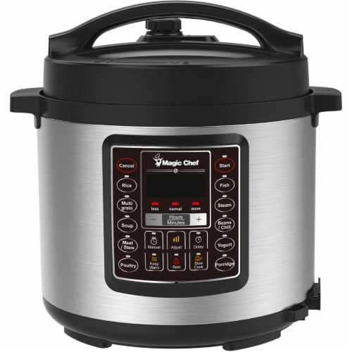 MAGIC CHEF All-in-One Multi-Cooker - Silver Perspective: front