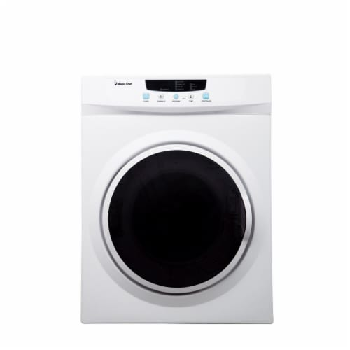 Magic Chef MCSDRY35W 3.5 Cubic Feet Compact Home Laundry Dryer Machine, White Perspective: front