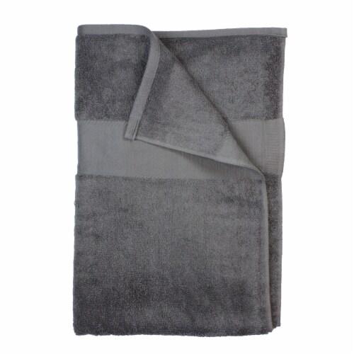American Heritage Bath Sheet - Dark Grey Perspective: front