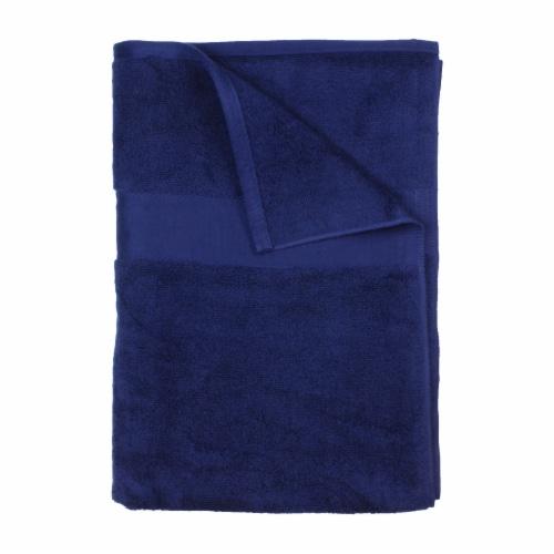 American Heritage Bath Sheet - Dark Blue Perspective: front