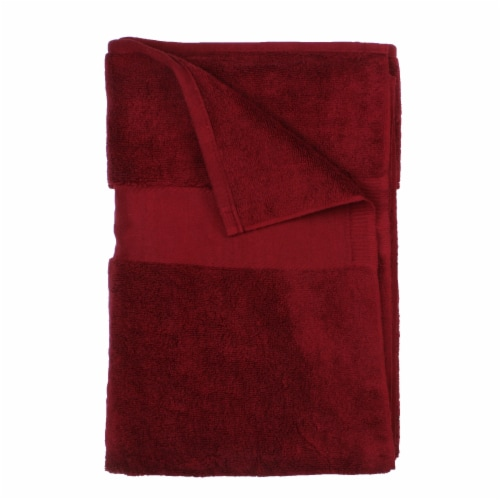 American Heritage Bath Sheet - Biking Red Perspective: front