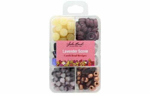 John Bead Recipe Box Bead Lavender Scone Perspective: front