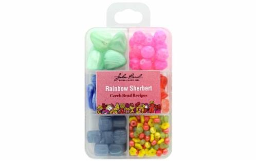 John Bead Recipe Box Bead Rainbow Sherbet Perspective: front