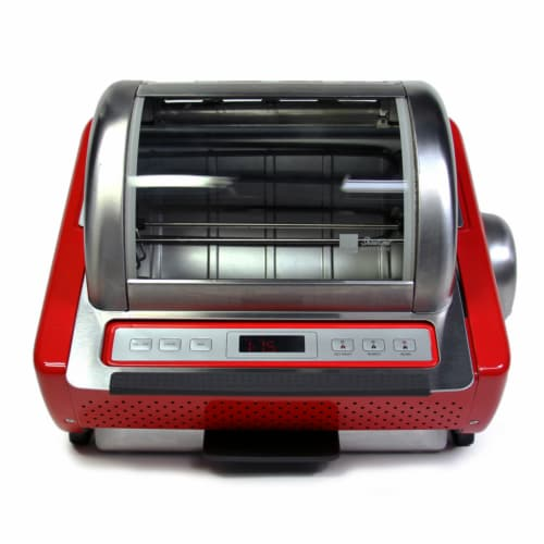 Ronco EZ-Store Rotisserie - Red Perspective: front