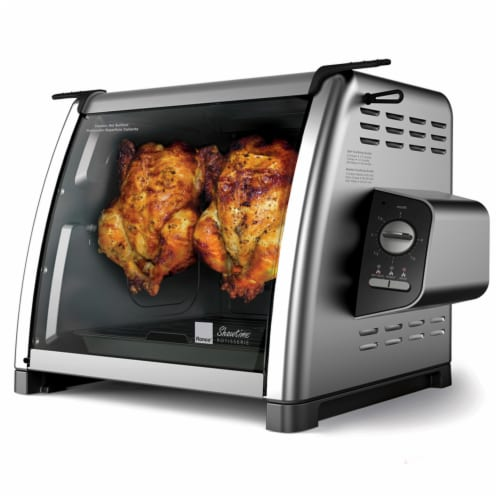 Ronco 5500 Series Stainless Steel Rotisserie Oven - Silver/Black Perspective: front