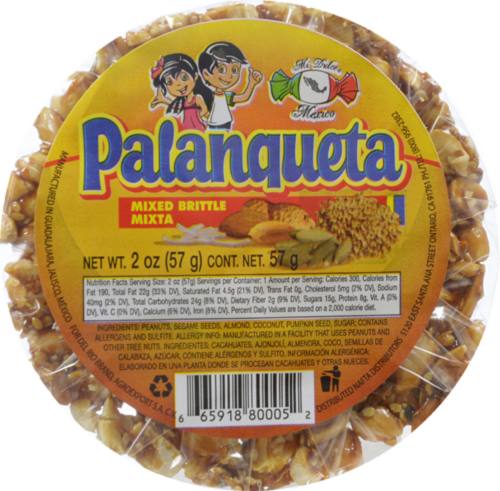 Mi Dulce Mexico Palanqueta Mixed Brittle Perspective: front