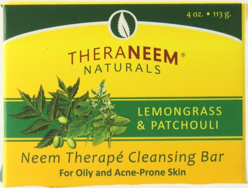 Organix South TheraNeem® Naturals Cleansing Bar Lemongrass and Patchouli Perspective: front