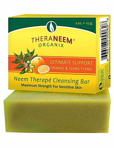 Organix South TheraNeem® Naturals Neem Therapé Cleansing Bar Orange & Ylang Ylang Perspective: front