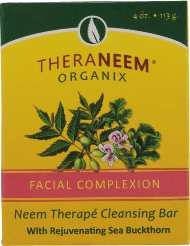 Organix South TheraNeem® Therape Cleansing Bar Facial Complexion Perspective: front