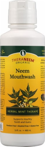 Organix South  TheraNeem® Neem Mouthwash   Herbal Mint Therapé Perspective: front