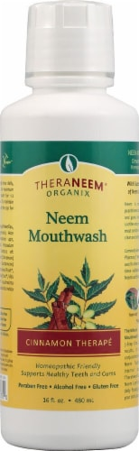 Organix South  TheraNeem® Neem Mouthwash   Cinnamon Therapé Perspective: front