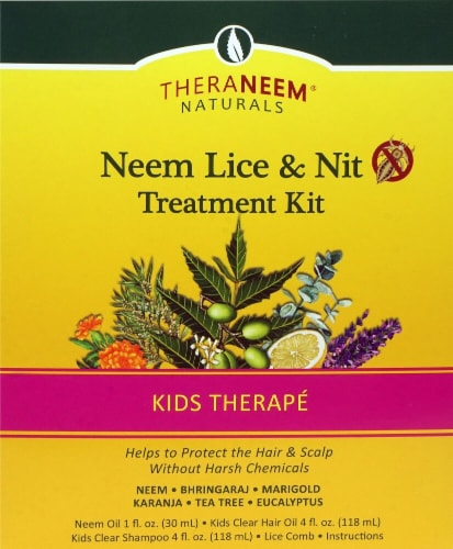 TheraNeem Neem Lice & Nit Treatment Kit Perspective: front