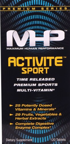MHP Activite Sport Time Release Premium Sports Multi-Vitamin Tablets 120 Count Perspective: front