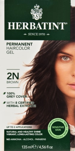 Herbatint 2n Brown Permanent Haircolor Gel Perspective: front