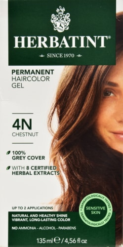 Herbatint 4n Chestnut Permanent Haircolor Gel Perspective: front