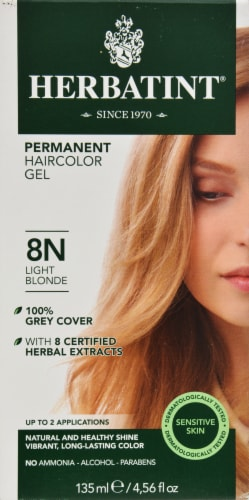 Herbatint 8N Light Blonde Permanent Haircolor Gel Perspective: front