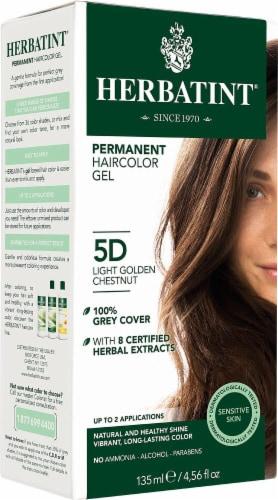 Herbatint  Permanent Haircolor Gel 5D Light Golden Chestnut Perspective: front