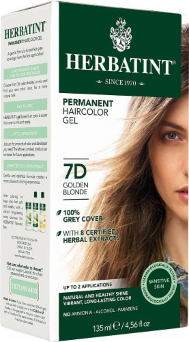 Herbatint  Permanent Haircolor Gel 7D Golden Blonde Perspective: front