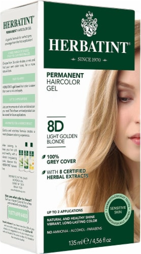 Herbatint  Permanent Haircolor Gel 8D Light Golden Blonde Perspective: front
