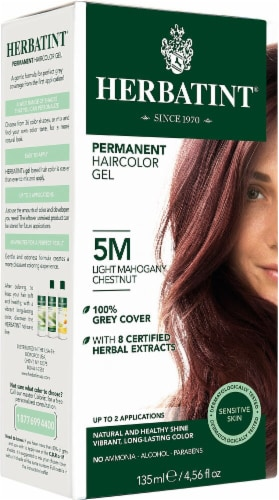 Herbatint  Permanent Haircolor Gel 5M Light Mahogany Chestnut Perspective: front