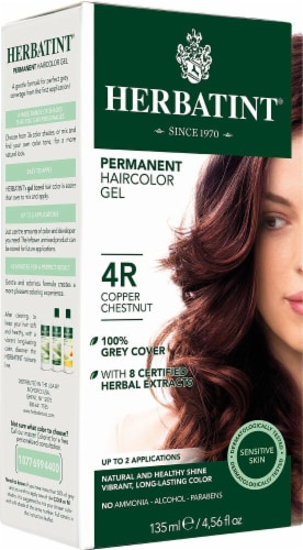 Herbatint  Permanent Haircolor Gel 4R Copper Chestnut Perspective: front