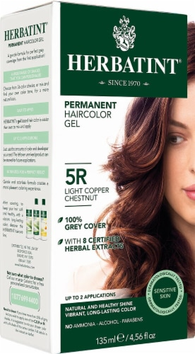 Herbatint  Permanent Haircolor Gel 5R Light Copper Chestnut Perspective: front
