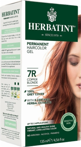 Herbatint  Permanent Haircolor Gel 7R Copper Blonde Perspective: front