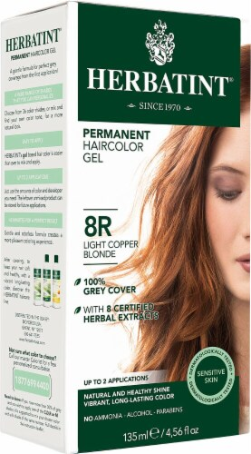 Herbatint  Permanent Haircolor Gel  8R Light Copper Blonde Perspective: front