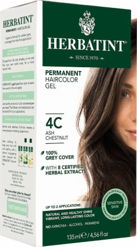 Herbatint  Permanent Haircolor Gel 4C Ash Chestnut Perspective: front