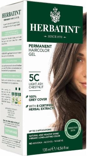 Herbatint  Permanent Haircolor Gel 5C Light Ash Chestnut Perspective: front