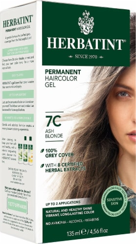 Herbatint  Permanent Haircolor Gel 7C Ash Blonde Perspective: front