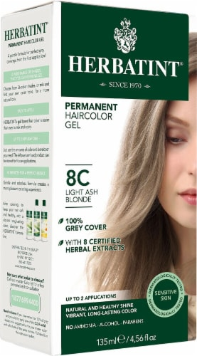 Herbatint  Permanent Haircolor Gel 8C Light Ash Blonde Perspective: front