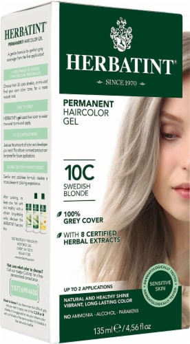 Herbatint  Permanent Haircolor Gel 10C Swedish Blonde Perspective: front