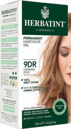 Herbatint  Permanent Haircolor Gel 9DR Copperish Gold Perspective: front