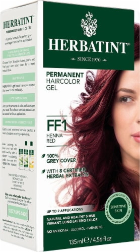 Herbatint  Permanent Haircolor Gel FF1 Henna Red Perspective: front