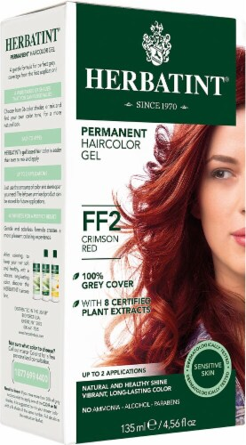 Herbatint  Permanent Haircolor Gel FF2 Crimson Red Perspective: front
