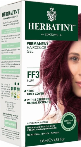 Herbatint  Permanent Haircolor Gel FF3 Plum Perspective: front