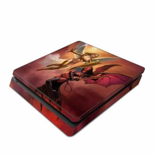 DecalGirl PS4S-ANGVSDEM Sony PS4 Slim Skin - Angel vs Demon Perspective: front