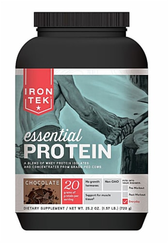 Iron-Tek  Essential Protein   Chocolate Fudge Perspective: front