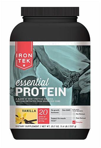 Iron-Tek  Essential Natural Protein   Vanilla Perspective: front