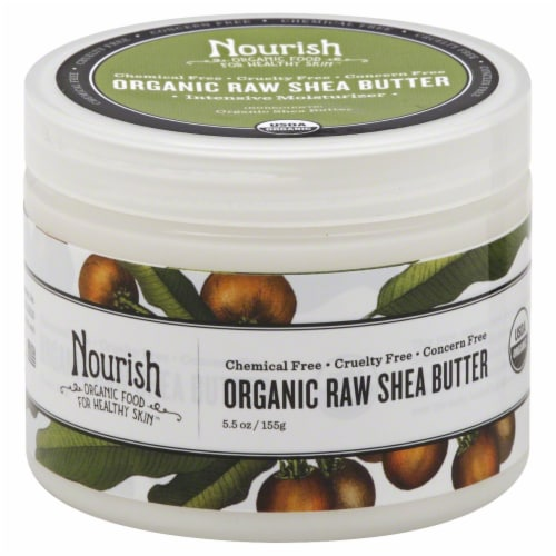 Nourish Organic Raw Shea Butter Perspective: front