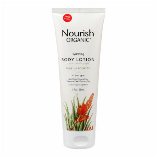 Nourish Organic Unscented Body Lotion Perspective: front