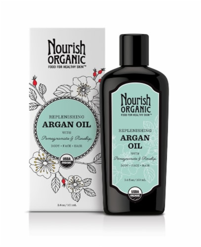 Nourish Organic Pomegranate & Rosehip Argan Oil Perspective: front