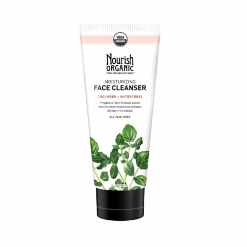 Nourish Organic Face Moisturizing Face Cleanser Cucumber + Watercress Perspective: front