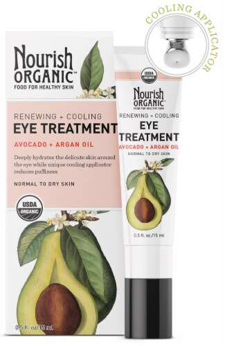 Nourish Organic Renewing + Cooling Eye Treatment Avocado + Argan Oil Perspective: front