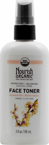 Nourish Organic Face Toner Refreshing + Balancing Rosewater + Witch Hazel Perspective: front