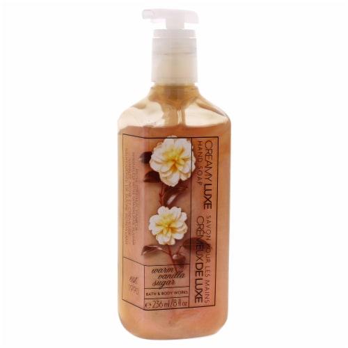 Bath and Body Works Warm Vanilla Sugar Creamy Luxe Hand Soap 8 oz Perspective: front